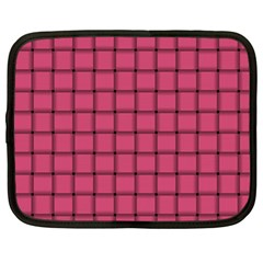 Dark Pink Weave Netbook Case (Large)