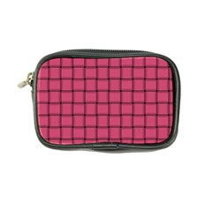Dark Pink Weave Coin Purse