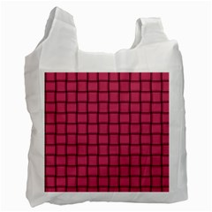 Dark Pink Weave Recycle Bag (Two Sides)