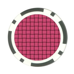 Dark Pink Weave Poker Chip 10 Pack