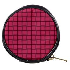 Dark Pink Weave Mini Makeup Case