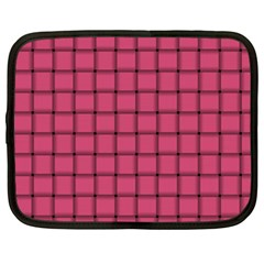 Dark Pink Weave Netbook Case (xxl)