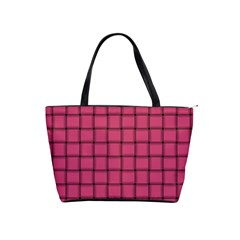 Dark Pink Weave Large Shoulder Bag