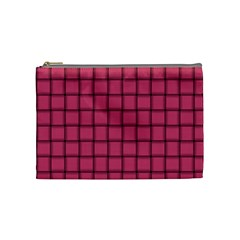 Dark Pink Weave Cosmetic Bag (Medium)