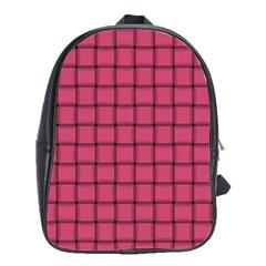 Dark Pink Weave School Bag (large)