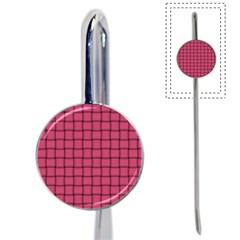 Dark Pink Weave Bookmark