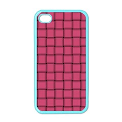 Dark Pink Weave Apple iPhone 4 Case (Color)