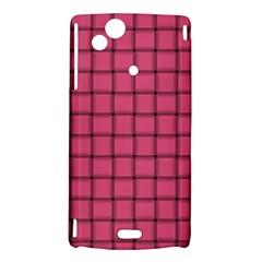 Dark Pink Weave Sony Xperia Arc Hardshell Case