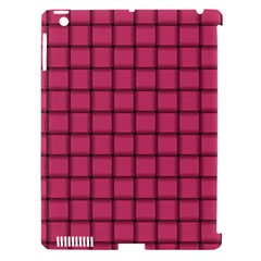 Dark Pink Weave Apple iPad 3/4 Hardshell Case (Compatible with Smart Cover)