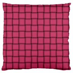 Dark Pink Weave Large Cushion Case (two Sides)