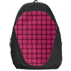 Dark Pink Weave Backpack Bag