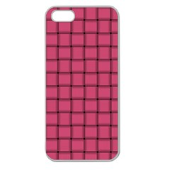 Dark Pink Weave Apple Seamless Iphone 5 Case (clear)