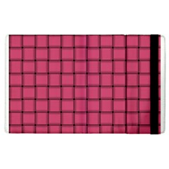 Dark Pink Weave Apple Ipad 3/4 Flip Case