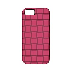 Dark Pink Weave Apple iPhone 5 Classic Hardshell Case (PC+Silicone)