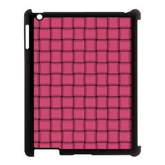 Dark Pink Weave Apple Ipad 3/4 Case (black)
