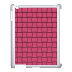 Dark Pink Weave Apple Ipad 3/4 Case (white)