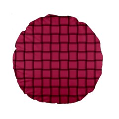 Dark Pink Weave 15  Premium Round Cushion