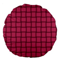 Dark Pink Weave 18  Premium Round Cushion