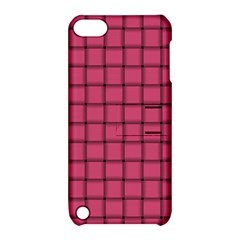 Dark Pink Weave Apple iPod Touch 5 Hardshell Case with Stand