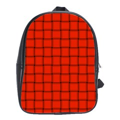 Ferrari Red Weave School Bag (Large)