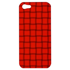 Ferrari Red Weave Apple iPhone 5 Hardshell Case