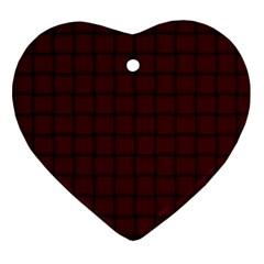 Dark Scarlet Weave Heart Ornament