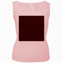 Dark Scarlet Weave Womens  Tank Top (pink)