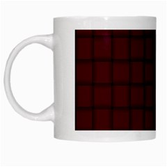Dark Scarlet Weave White Coffee Mug