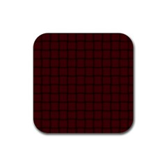 Dark Scarlet Weave Drink Coasters 4 Pack (square)