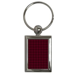 Dark Scarlet Weave Key Chain (Rectangle)