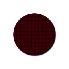 Dark Scarlet Weave Drink Coaster (round)