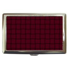 Dark Scarlet Weave Cigarette Money Case