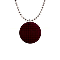 Dark Scarlet Weave Button Necklace