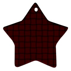 Dark Scarlet Weave Star Ornament (Two Sides)