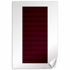 Dark Scarlet Weave Canvas 24  x 36  (Unframed)