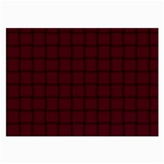 Dark Scarlet Weave Glasses Cloth (Large, Two Sided)