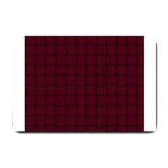 Dark Scarlet Weave Small Door Mat