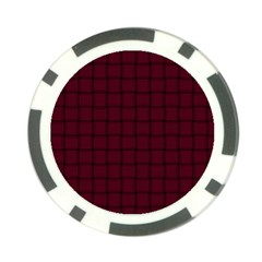 Dark Scarlet Weave Poker Chip
