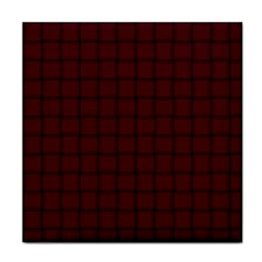 Dark Scarlet Weave Face Towel