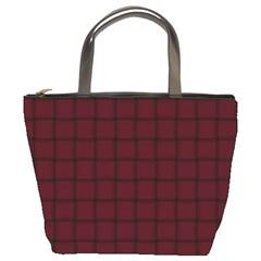 Dark Scarlet Weave Bucket Bag