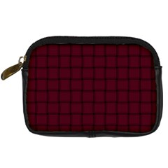 Dark Scarlet Weave Digital Camera Leather Case