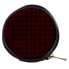 Dark Scarlet Weave Mini Makeup Case