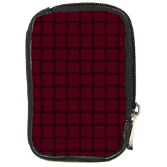 Dark Scarlet Weave Compact Camera Leather Case