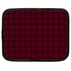 Dark Scarlet Weave Netbook Case (xxl)