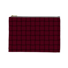 Dark Scarlet Weave Cosmetic Bag (Large)