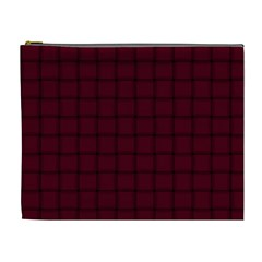 Dark Scarlet Weave Cosmetic Bag (XL)