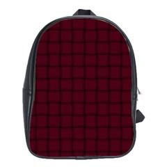 Dark Scarlet Weave School Bag (Large)