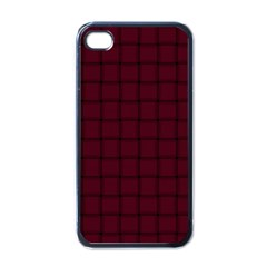 Dark Scarlet Weave Apple Iphone 4 Case (black)