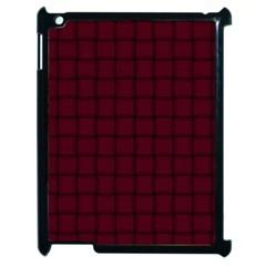 Dark Scarlet Weave Apple iPad 2 Case (Black)
