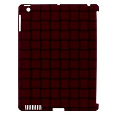 Dark Scarlet Weave Apple Ipad 3/4 Hardshell Case (compatible With Smart Cover)